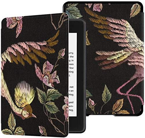 Ganz Neuer wasserdichter Stoffbezug Kindle Paperwhite (10. Generation, Version 2018), Stickerei Nahtloses Blumenmuster Wild Roses Tablet-Hülle