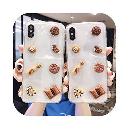 Carcasa para iPhone 11 Pro Max, diseño de pastel de galletas de chocolate 8plus para iPhone X/XS Max/XR