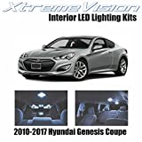 Xtremevision Interior LED for Hyundai Genesis Coupe 2010-2017 (2 Pieces) Cool White Interior LED Kit + Installation Tool