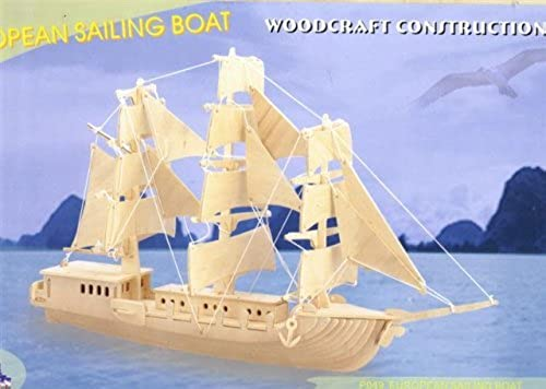 European Sailing Boat Woodcraft Construction Kit by Human Article