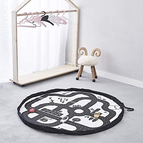Purchase Oiker Baby Play Mat, 140cm / 55in Kids Roads Traffic Drawstring Area Rug for Playing,