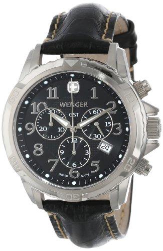Wenger - 78255 - Montre Homme - Quartz - Bracelet Cuir Noir