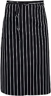 YAOSEN Unisex Striped Waist Apron Kitchen Bistro Apron with Pocket