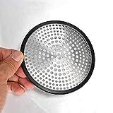 TAOtTAO Filtro circular geométrico circular para fregadero de cocina y baño de acero inoxidable