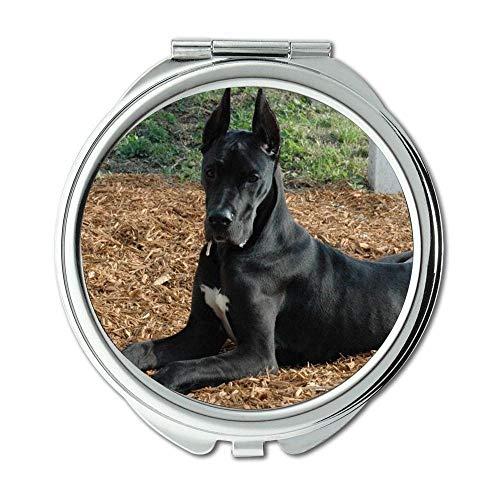 Yanteng Spiegel, Compact Mirror, Tiere Katze Kitten Hund Golden Nemecka Doga, Taschenspiegel, 1 X 2X Vergrößerung