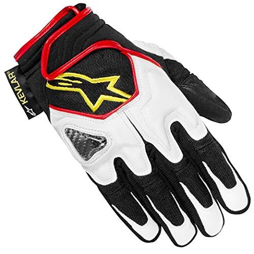 Alpinestars Scheme Kevlar Handschuhe Schwarz / Weiß / Neongelb S bunt