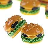 Blue Vessel Puppenhaus Zubehör Mini Burger Form Puppenhaus Spielzeug 2#