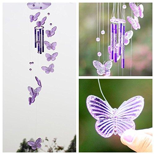 SOLEDI Carillons à Vent de Papillon Wind Chime Bell Ornement Hanging Cadeau Art Décor de Jardin Maison Salon