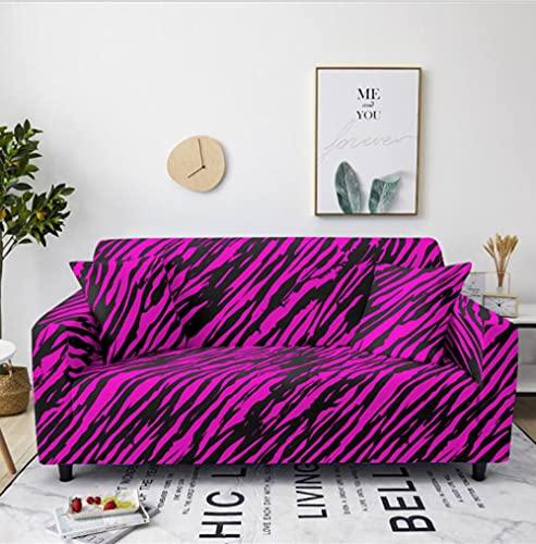 Patrón de Rayas Rosa Funda de sofá de 1 Plazas Funda Elástica para Sofá Poliéster Suave Sofá Funda sofá Antideslizante Protector Cubierta de Muebles Elástica