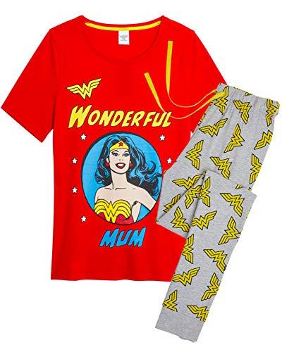 DC Comics Pijama Wonder Woman Mujer Diseño Superhéroe