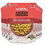 A Dozen Cousins Meals Ready to Eat, Vegan and Non-GMO Seasoned Beans Made with Avocado Oil (Trini Chickpea Curry, 8-Pack)