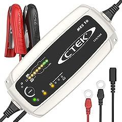 CTEK MXS 10 – Helautomatisk batteriladdare (grundladdning, förnyelse, underhållsladdning av större bil, husvagn, bagageutrymme, husbilsbatterier) 12V, 10 A – EU-stickkontakt