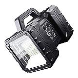QWERDF Portátil LED Linterna Camping, Al Aire Libre 20W Recargable Solar De Doble Cabezal Engergy Reflector Reflector De Destello para El Huracán Tormenta De Interrupción De Emergencia
