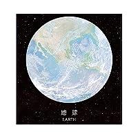 ラブリー美しい惑星創造的なメモ帳メモ帳、ノートブックオフィス文具、ノート紙ステッカー学用品 (Color : B earth)