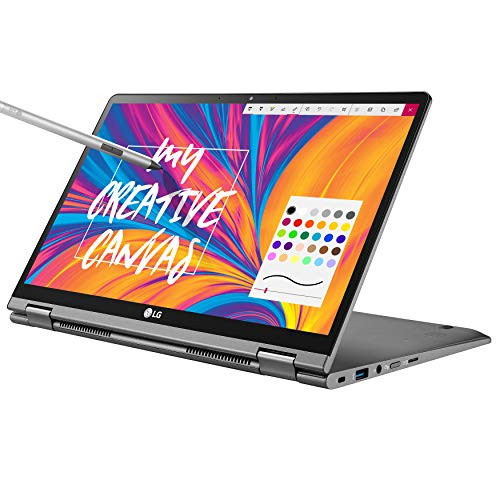 "LG Gram 14T990-U.AAS8U1, 14"" 2-in-1 Ultra-Lightweight Laptop with Intel Core i7 Processor and Wacom Pen, Silver"