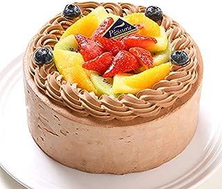 アレルギー対応 卵不使用 フレッシュフルーツ乗せ生チョコクリームのショートケーキ 5号 15cm