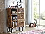 Commode - Bois massif recyclé multicolore laqué - Inspiration Vintage - SIXTIES #105