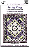 Grizzly Gulch Gallery Quilt Pattern - 6-Month BOM Spring Fling (Includes Instructions for Two Project Sizes)