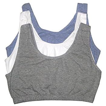 Fruit of the Loom Women s Built Up Tank Style Sports Bra Heather Blue/White/Heather Grey 38