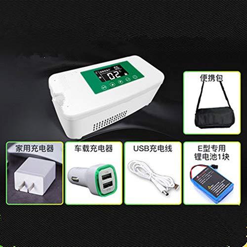 Portable insuline koeler Insuline koelkast, Intelligent Oplaadbare Met temperatuurvertoning medische koelkast voor auto,Green