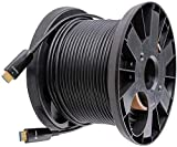 DTECH Cable HDMI de fibra de vidrio (50 m, 4K, 30 Hz, 1080p, 60 Hz, vídeo HD, 3D, HDCP, CEC, soporta alta velocidad, 164 pies), color negro