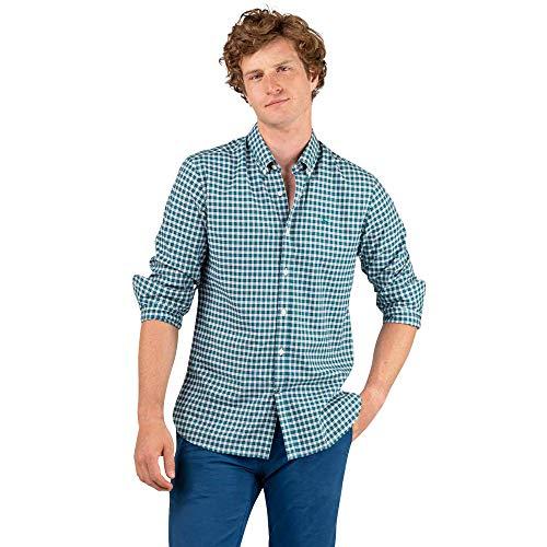 El Ganso 1 Camisa casual, Verde (Verde 0009), X-Large para Hombre