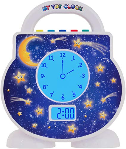 Product Image of the My Tot Clock Toddler Clock, White