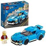LEGO 60285 City Sportwagen, Rennauto mit abnehmbaren Dach, Rennwagen-Spielzeug für Mädchen und Jungen ab 5 Jahre
