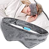 EVQ Weighted Eye Mask for Sleeping - Sleep Mask and Blindfold,Eye Pillow for Women and Men to Relief Stress,Headache,Migraine,Sinus Pain (Light Gray)
