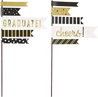 Unique Party 58629 - You Did It! Graduation Cake Flag Decorations, Set of 2