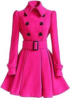 e7cab7cc6e8 Winter Warm Parka Women Woolen Coat Trench Jacket Belt Overcoat Outwear by  Sunsee 2019