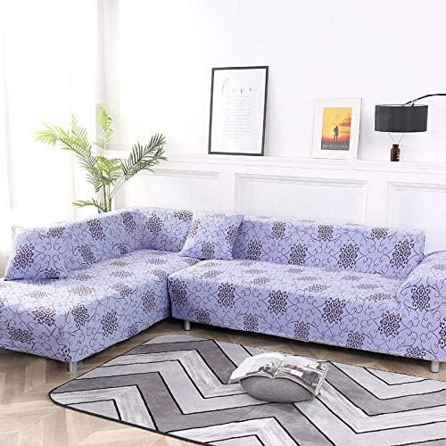 ASCV Funda de sofá Funda de sofá elástica Funda de sofá para Sala de Estar Funda de sofá de Esquina en Forma de L Chaise Longue Funda de sofá A1 2 plazas