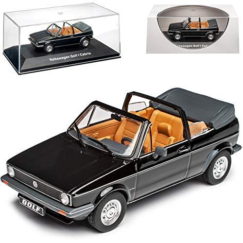 NEW Volkwagen Golf I Cabrio Schwarz 1979-1993 1/43 Ixo Modell Auto mit individiuellem Wunschkennzeichen