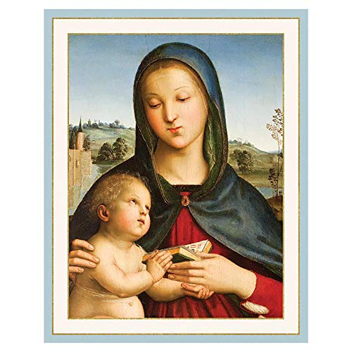Caspari Madonna and Child with Book Mini Boxed Christmas Cards - 32 Cards & Envelopes