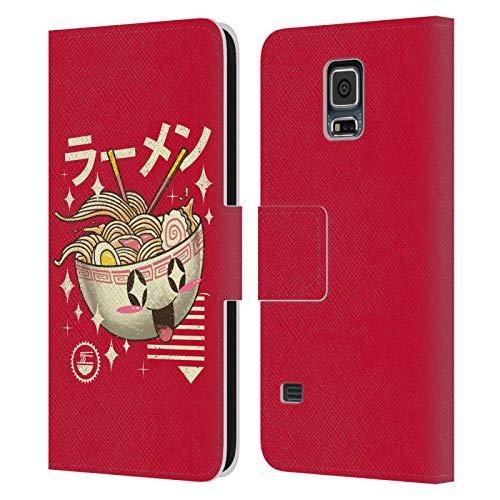Head Case Designs Licenza Ufficiale Vincent Trinidad Kawaii Ramen Grafiche Radicali Cover in Pelle a Portafoglio Compatibile con Samsung Galaxy S5 / S5 Neo
