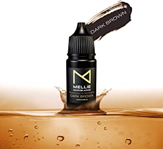 Mellie Microblading Pigment – Dark Brown 10 ml/.35fl.oz | Medical Grade | No Mixing | Long Lasting Tattoo Ink For Professi...