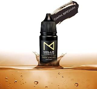 Mellie Microblading Pigment – Dark Brown 10 ml/.35fl.oz | Medical Grade | No Mixing | Long Lasting Tattoo Ink For Professionals Semi-Permanent Make Up PMU Supplies
