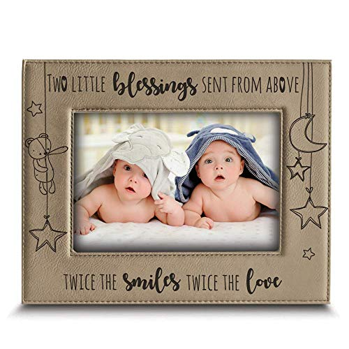 Twice The Blessings - Leather Picture Frame