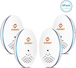 Ultrasonic Pest Repeller 4-Pack - Effective Upgraded Electronic & Ultrasound, Indoor Plug-in Repellent, Anti Mice, Insects, Bugs, Ants, Mosquitos, Rats, Spiders, Roaches, Rodents