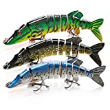 BLure Fishing Lure for Pike – Multi-Jointed Bass Fishing Lures – Slow...