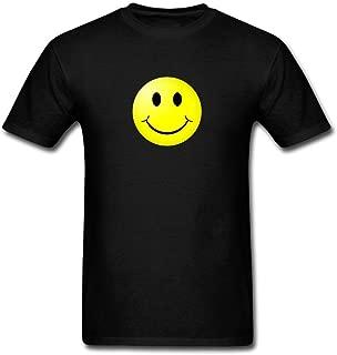 XIULUAN Men's This is My Happy Face Logo T-Shirt Short Sleeve