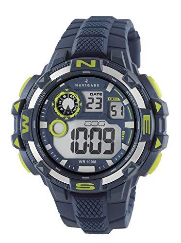 NA202 Navigare Action Digital Unterwasser-Sportuhr für Herren 50mm blau