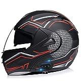 ETScooter Bluetooth Motorrad Helm, Motorrad Klapphelm Integralhelme für Damen und Herren mit...