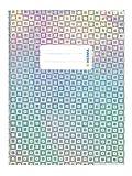 HERMA 19641 Heftumschlag DIN A5 Glamour, mit Beschriftungsetikett, aus strapazierfähiger und abwischbarer Polypropylen-Folie, 1 Heftschoner für Schulhefte, silber