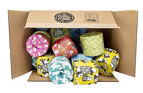 Bambus Toilettenpapier - 24 Rollen á 400 Blatt - The Panda Edition - 2-Schichten MAXI - doppelt dicke Rollen - 100% baumfreundliches & nachhaltiges Papier