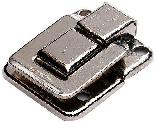 Bulk Hardware BH02803 Quadratischer Kofferverschluss 39 mm x 29 mm, Vernickelt (Packung à 2), Weiß, 2 Stück