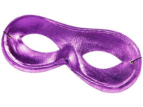 Alsino Venezianische Maske Banditenmaske Augenmaske Fasching Karneval Venezianermaske, wählen:Maske metallic lila 00336