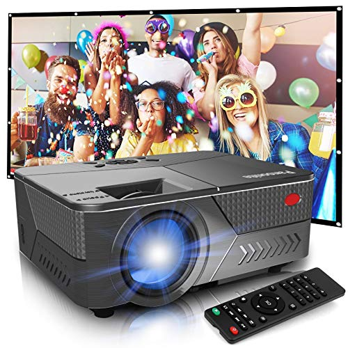 Pansonite Mini Projector with High Brightness Support 1080P and 200