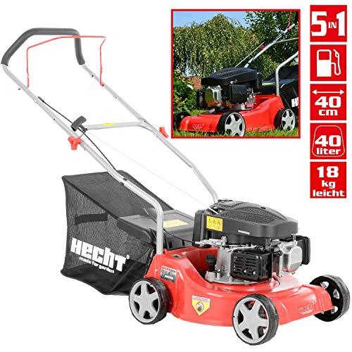 HECHT Benzin-Rasenmäher 5406 Rasenmäher (2,6 kW (3,5 PS), Schnittbreite 40 cm, 40 Liter Fangkorbvolumen, 3-fache Schnitthöhenverstellung 25-55 mm)