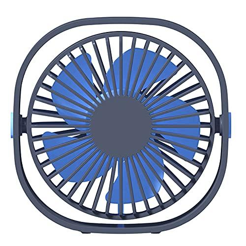 KRISVA Mini ventilador de escritorio USB ventilador portátil ajustable ventilador de mesa de rotación 360 con cable USB silencioso y potente para biblioteca de oficina en casa